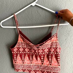 hollister crop tank top